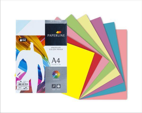 Giấy bìa màu PaperLine A4 | VPP Hữu Phát