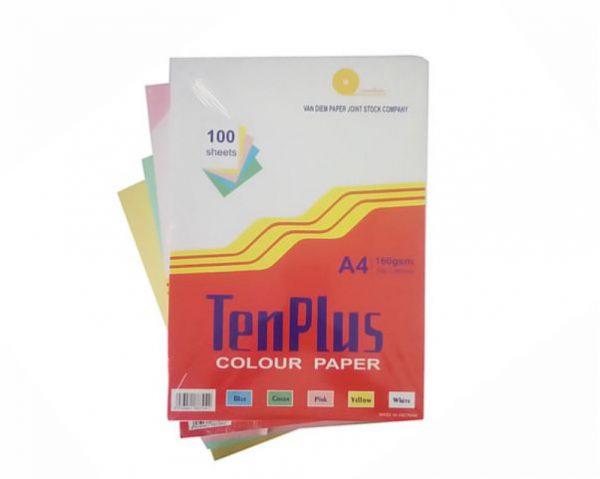 Giấy bìa màu TenPlus A4 | VPP Hữu Phát
