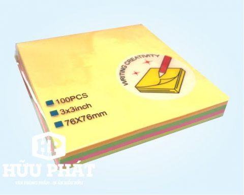 Giấy note dạ quang 5 màu | VPP Hữu Phát