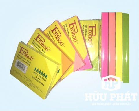 Giấy note dạ quang 3x4 4 màu | VPP Hữu Phát