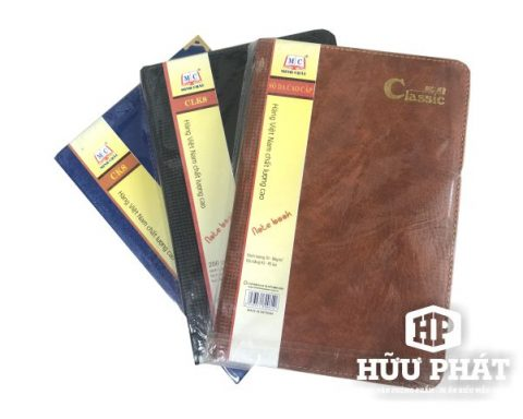 Sổ da màu Classic | Văn phòng phẩm Hữu Phát