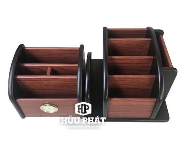 Hộp cắm bút gỗ | Văn phòng phẩm Hữu Phát
